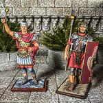 Emperor Claudius 6193 and Legionnaire Marching w-Pilum, 22nd Legion-Deiotariana 6255 10 AeroArt